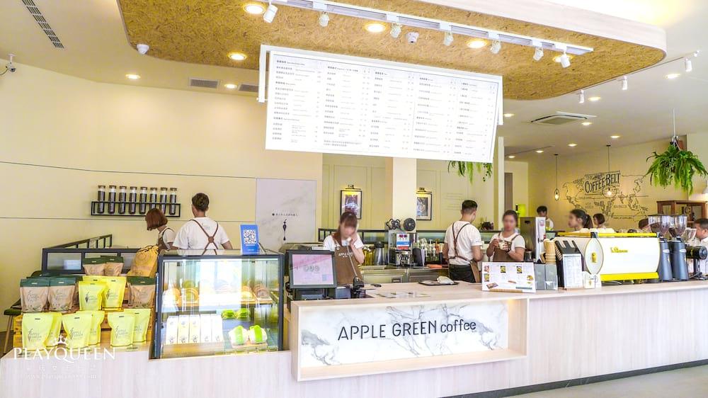 蘋果綠咖啡台中黎明店,全新開幕多那之咖啡體系,咖啡、輕食、下午茶,文青必訪新選擇!