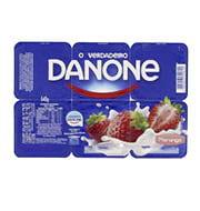 Iogurte Danone com Polpa de Morango 540g (6 u