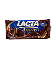 Barra De Chocolate Lacta Amaro Meio Amargo 20