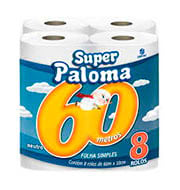 Paloma Folha Simples Neutro 60 Metros 8 Unidades
