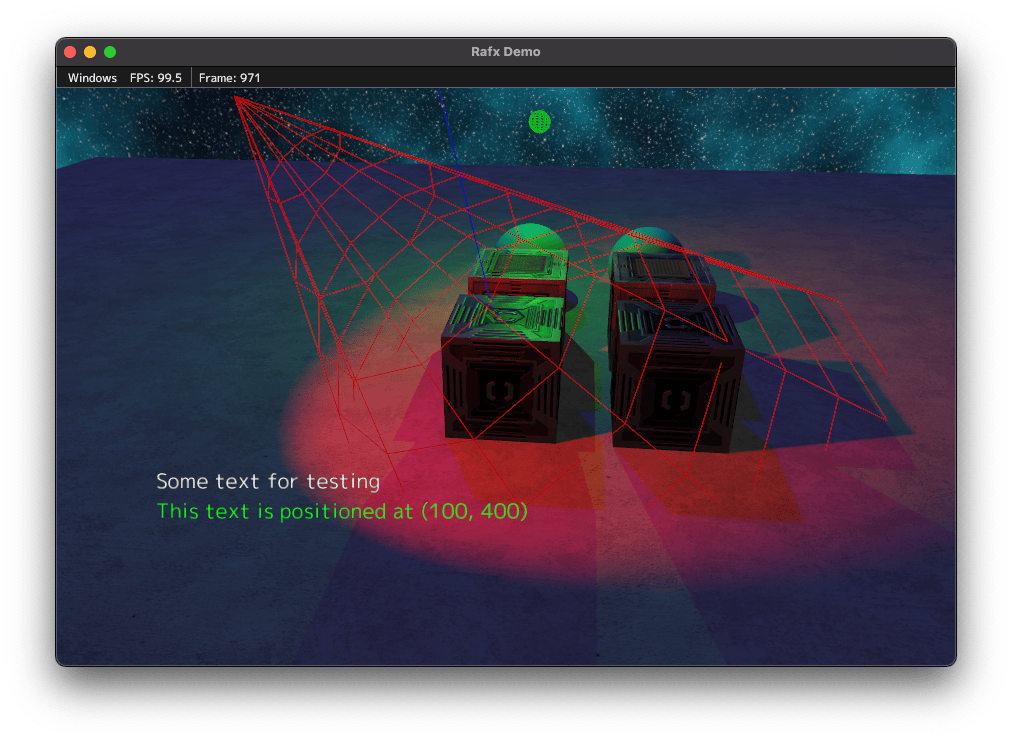 Screenshot demonstrating realtime shadows