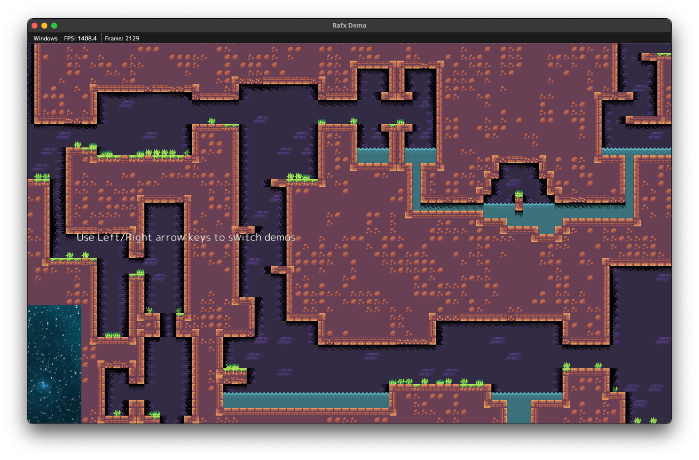 Screenshot of LDTK tilemap integration