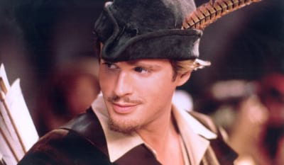 Cary Elwes as Robin Hood in the film Robin Hood Men in Tights (1993)