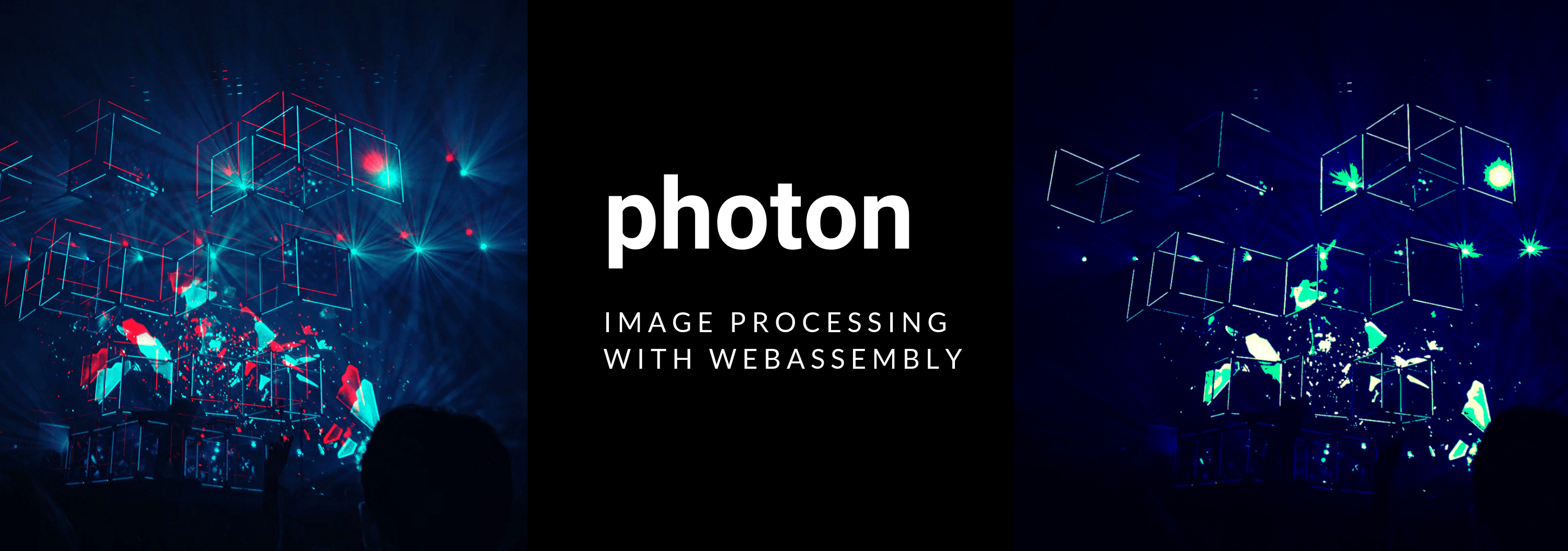 Photon banner, showing the Photon logo on a dark background