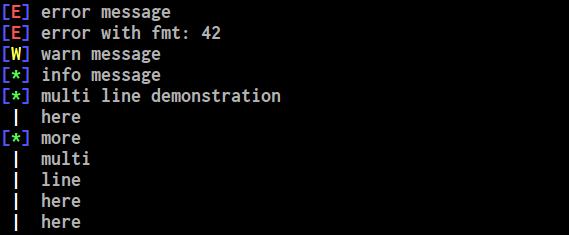 demo screenshot from terminal