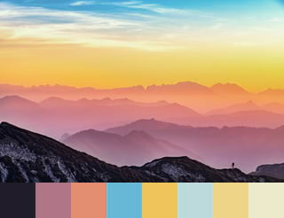 Picture of mountain and color palette