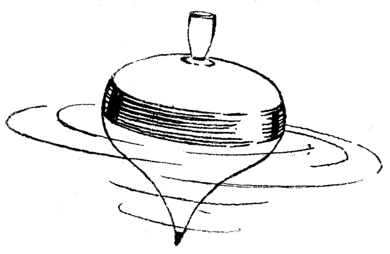 image of a spinning top