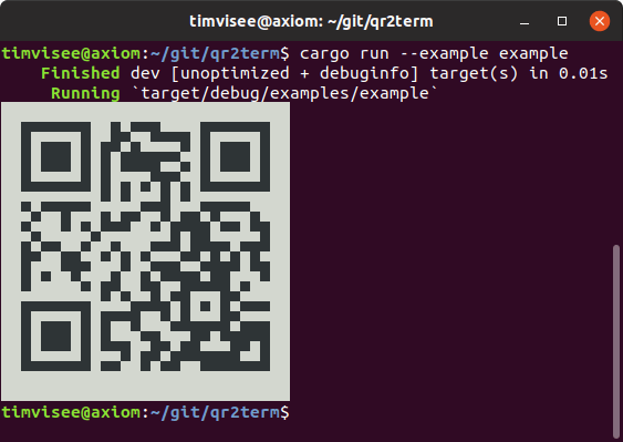 qr2term example screenshot