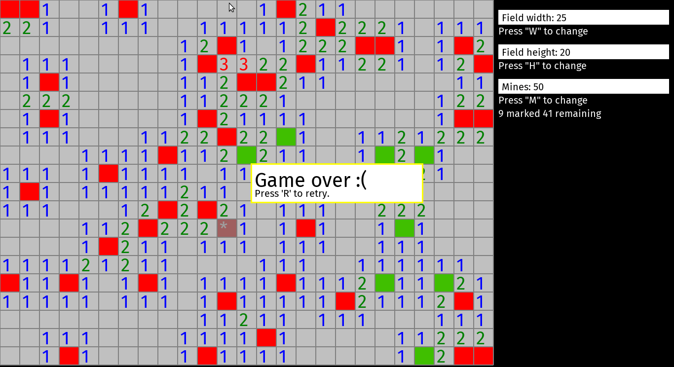 minesweeper defeat