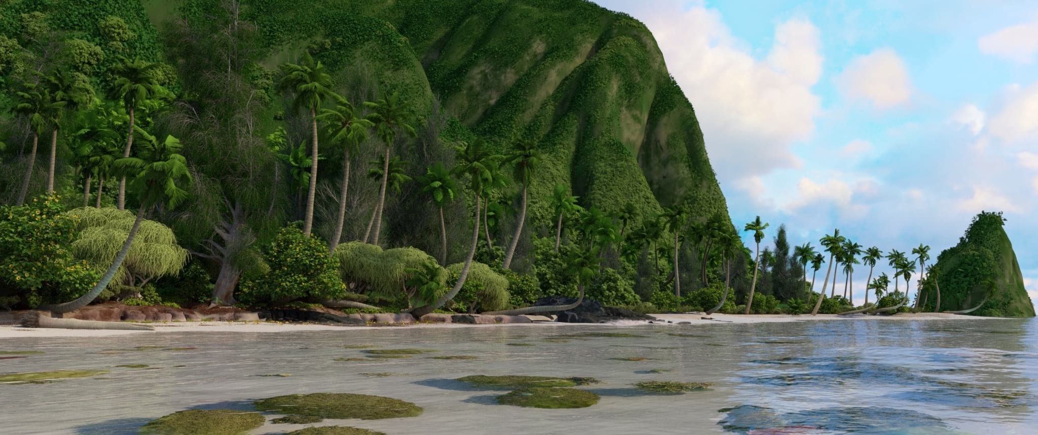 Moana Island, rendered with 3Delight|ɴsɪ
