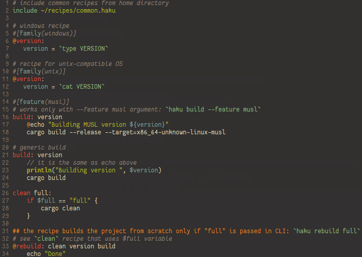 Haku syntax hightlight in gVim using gruvbox colorscheme and Fantasque Sans Mono font