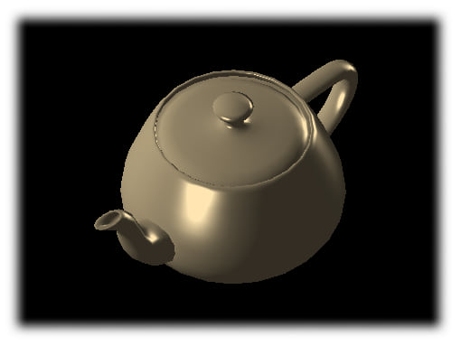 Utah teapot, rendered with Euc