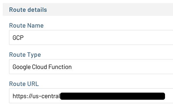 notehub gcp route configuration