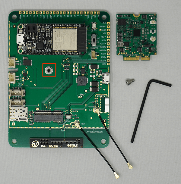 Image of mounting receptacle on Notecarrier