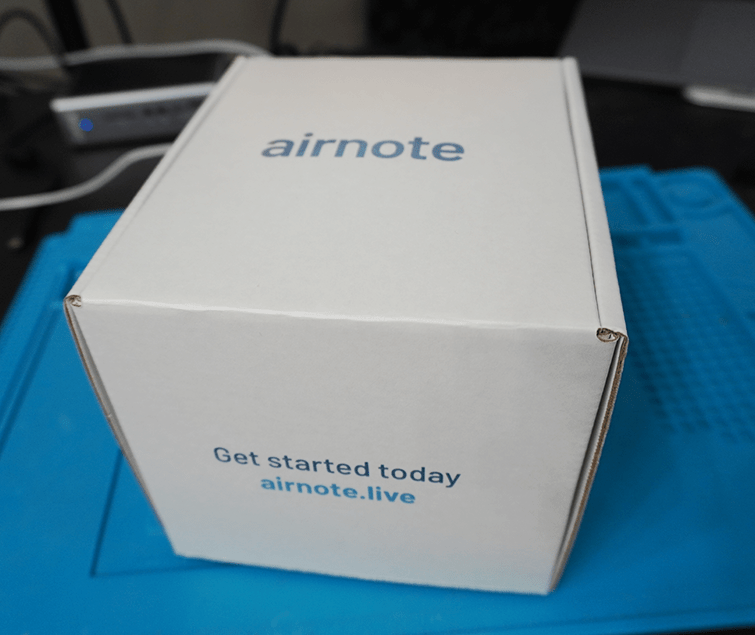Picture of the Airnote box