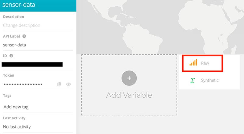 create an ubidots variable