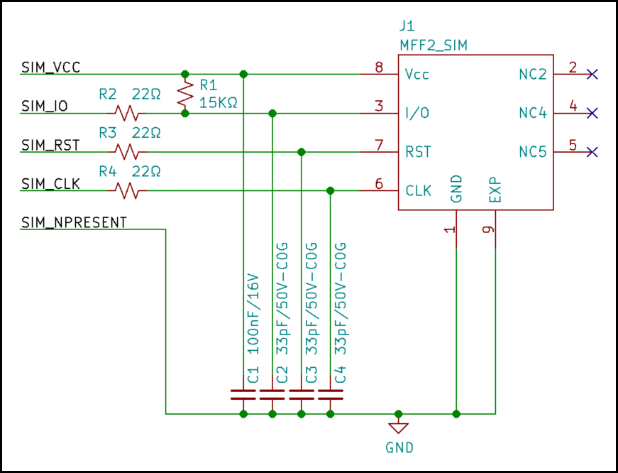 External MFF2 SIM slot