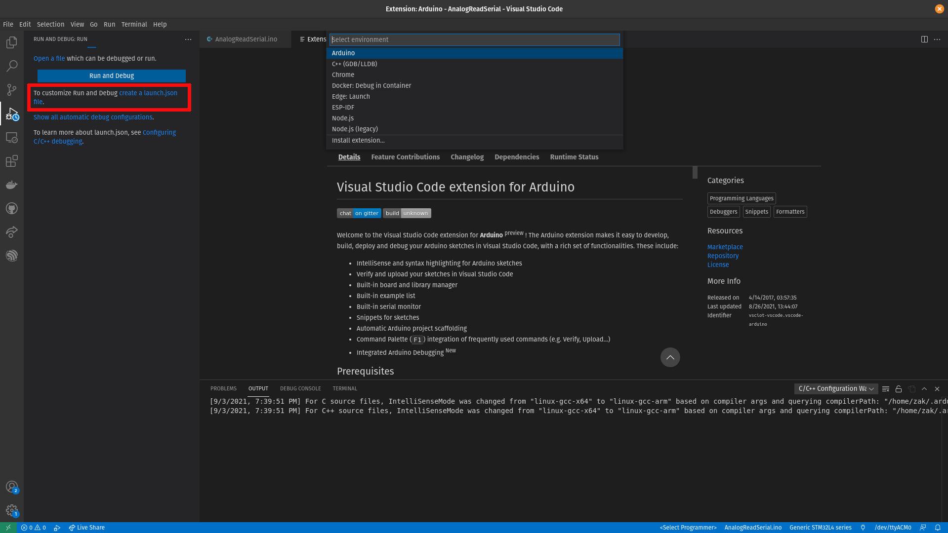 VSCode Arduino Launch JSON Bug Workaround