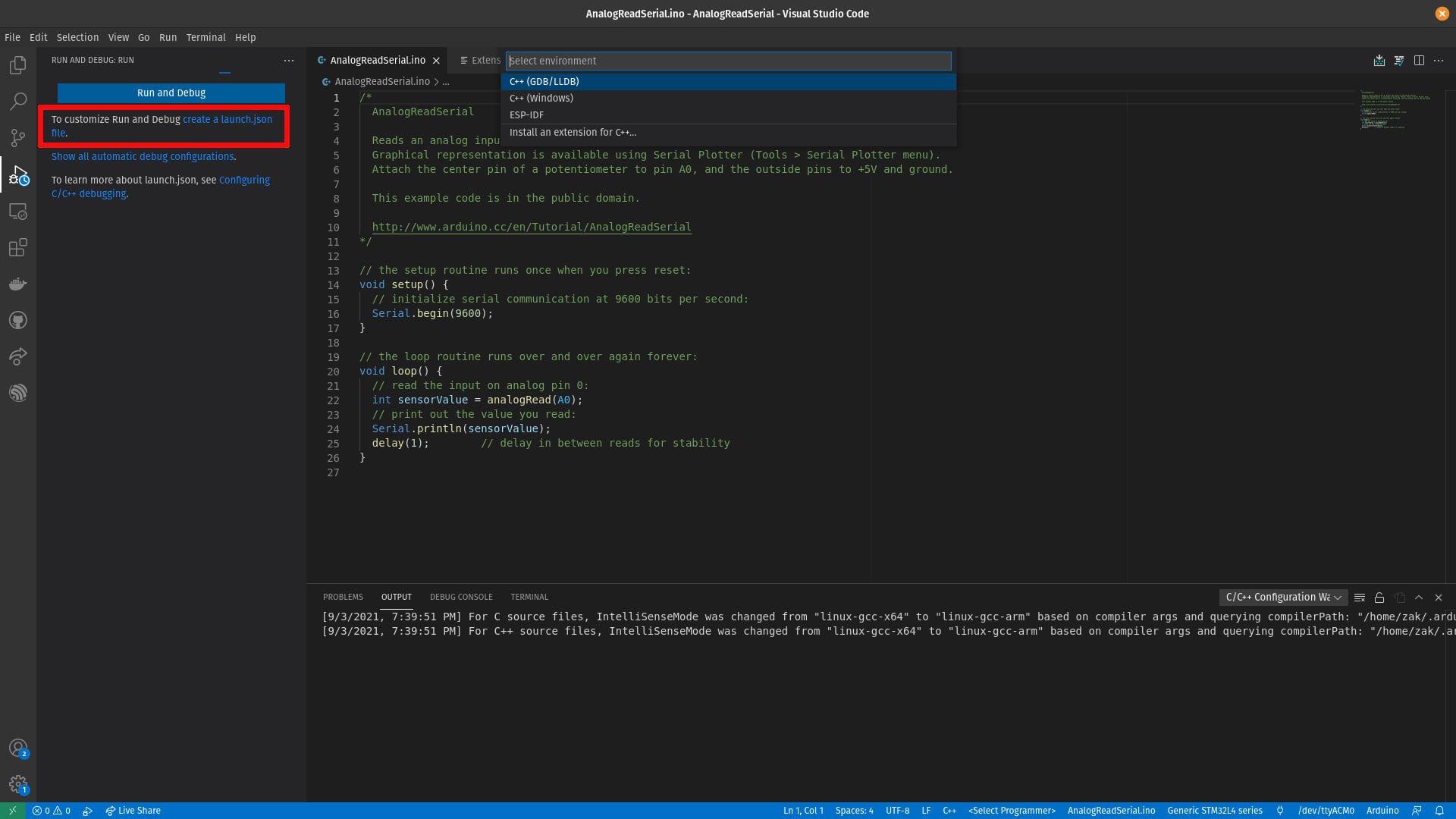 VSCode Arduino Launch JSON Bug