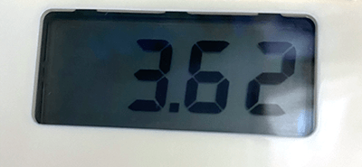 Image of the LCD Screen with voltage