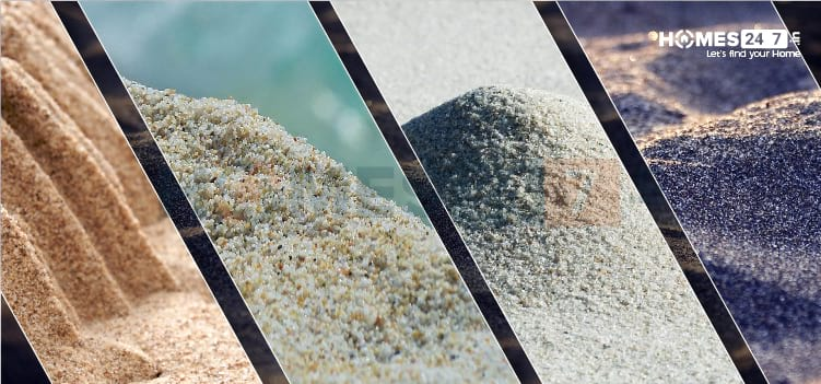 Types of Sand used in Construction