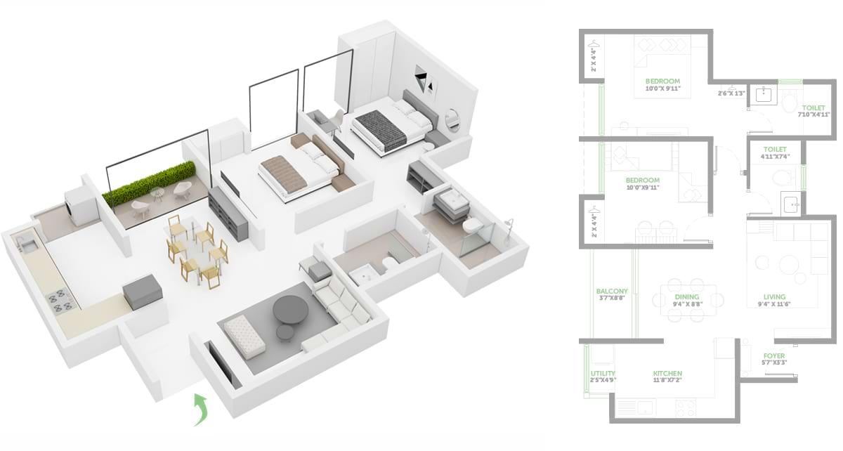 Asstez-63-Degree-East-2-BHK-984-sqft-floorplan
