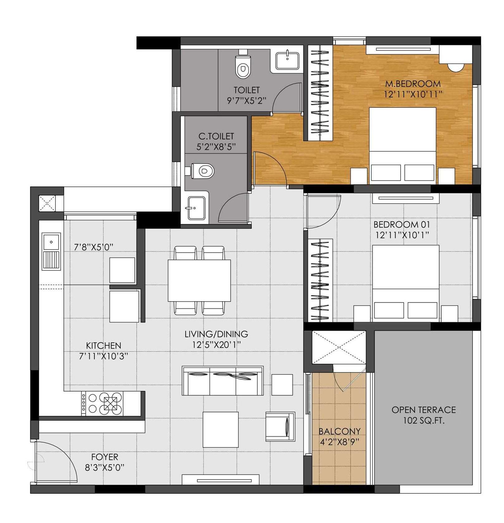 DNR-Casablanca-2bhk-1263-sqft-floorplan