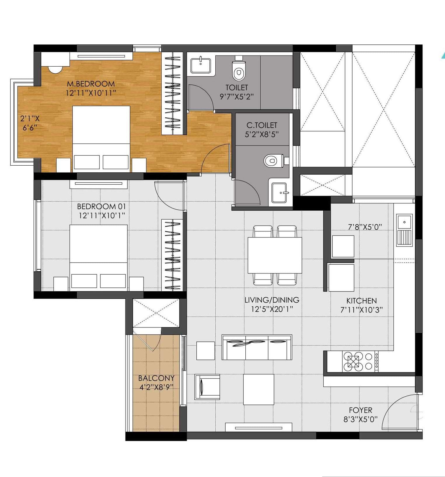 DNR-Casablanca-2bhk-1274-sqft-floorplan