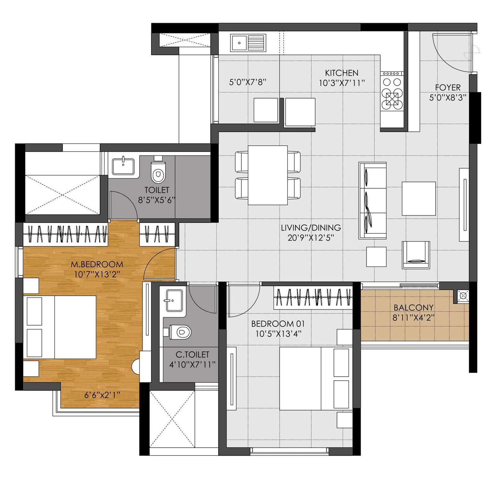 DNR-Casablanca-2bhk-1290-sqft-floorplan