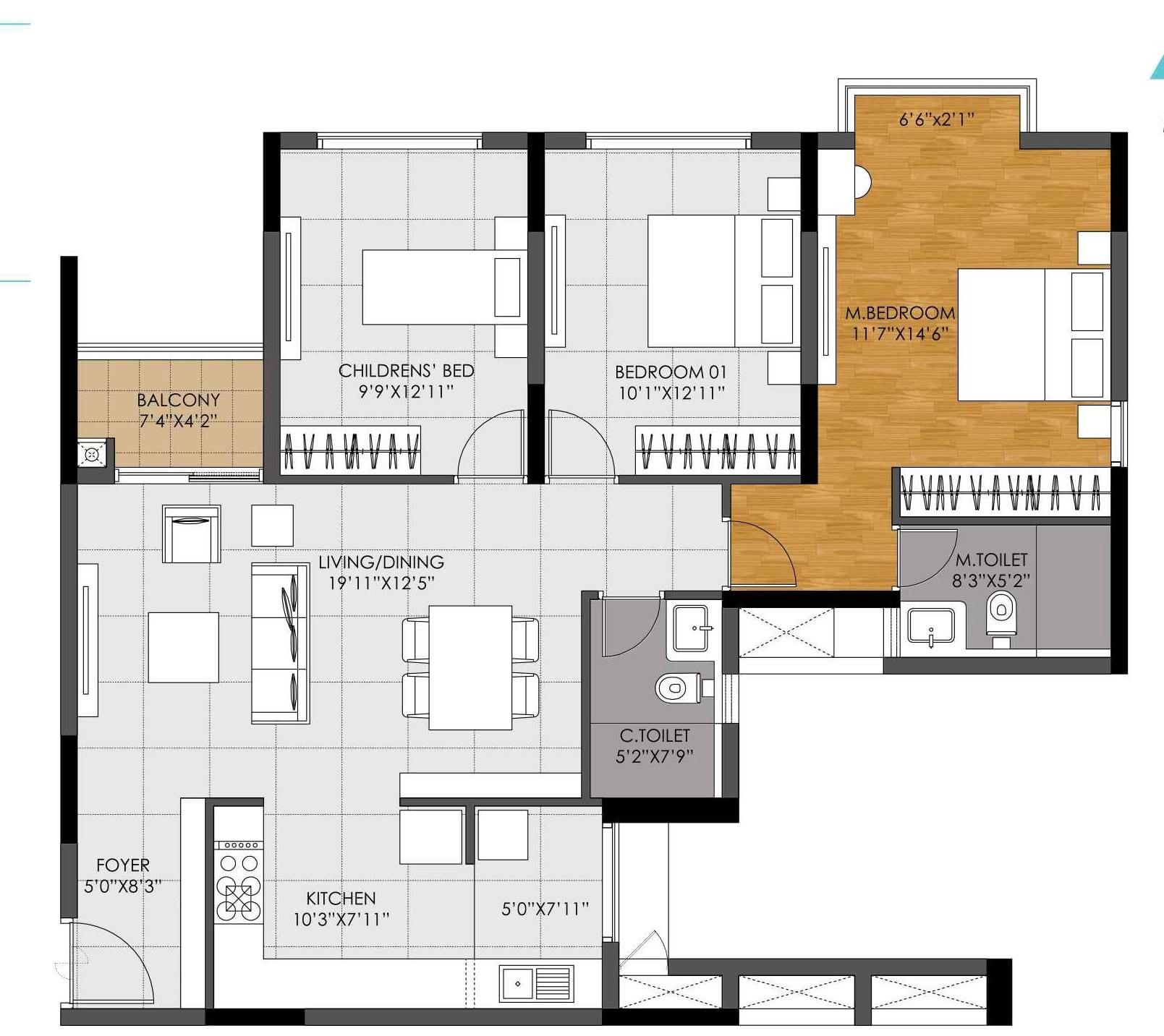 DNR-Casablanca-3bhk-1494-sqft-floorplan