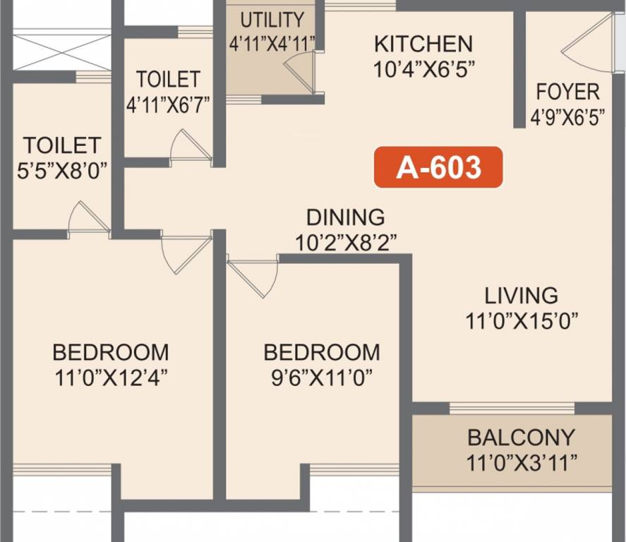 Rohan-Akriti-2bhk-1081-sqft-floorplan