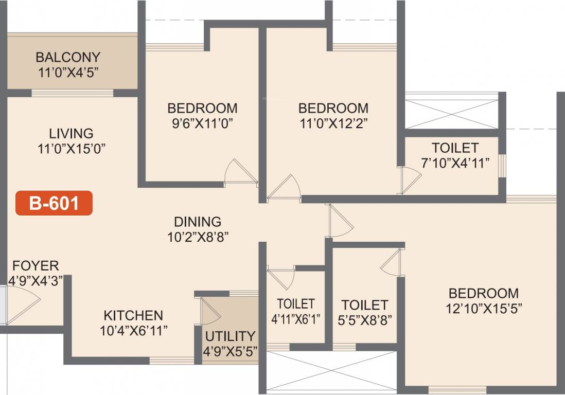 Rohan-Akriti-3bhk-1458-sqft-floorplan
