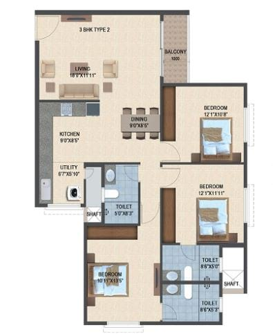 Salarpuria-Sattva-Laurel-Heights-3bhk-1416-sqft-floorplan