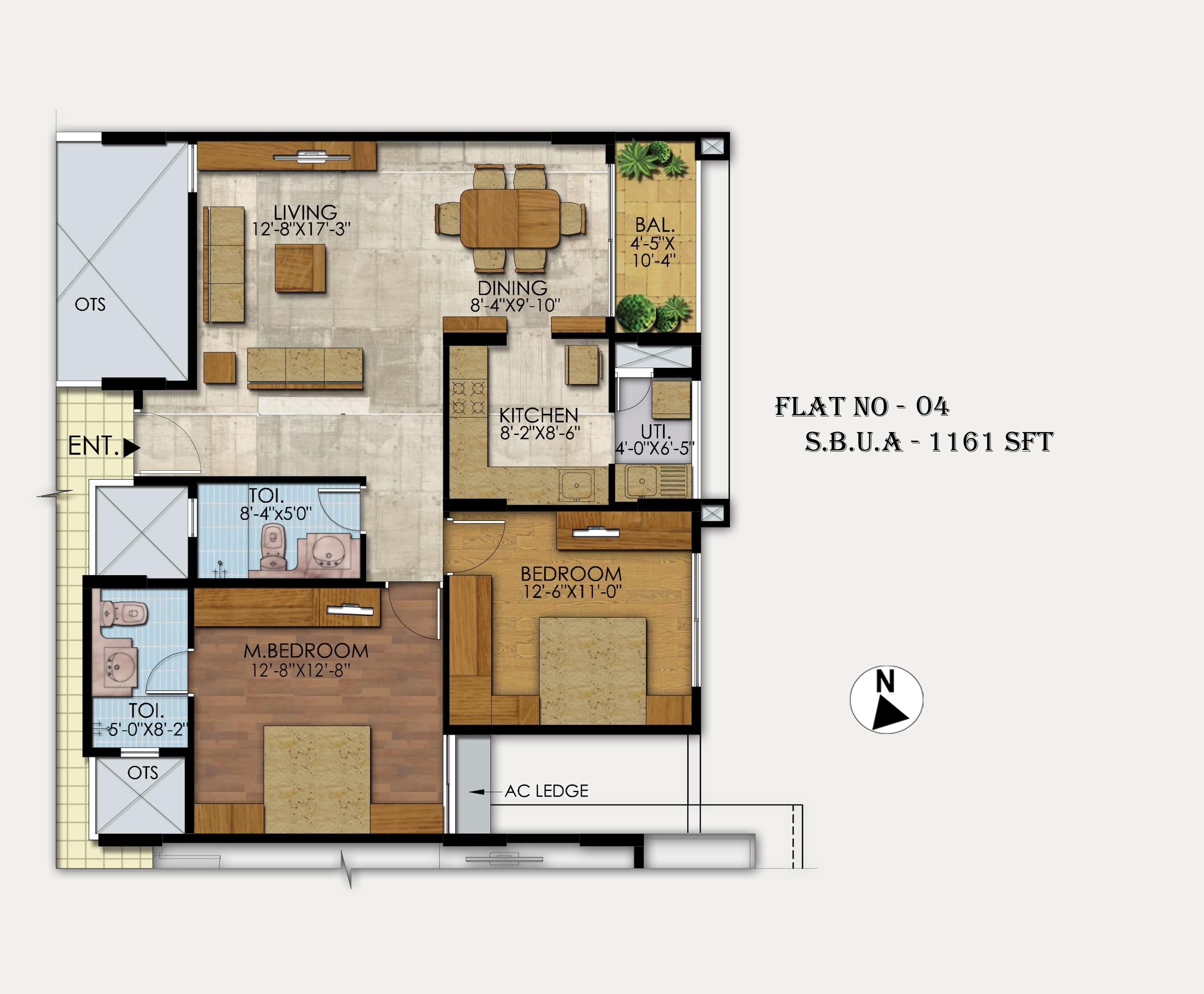 Mahaveer-Ranches-2bhk-1161-sqft-floorplan