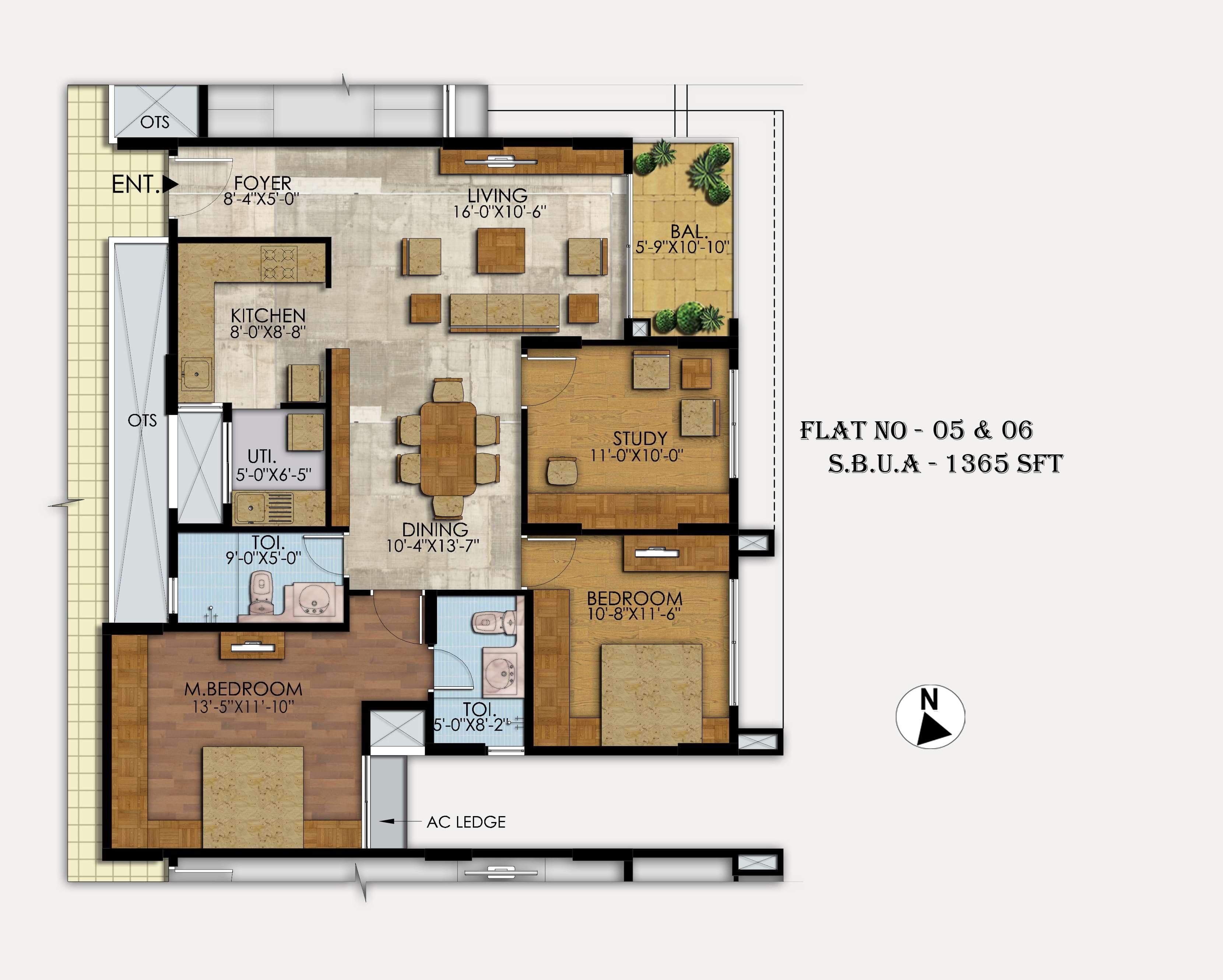 Mahaveer-Ranches-3BHK-1365-sqft-floorplan