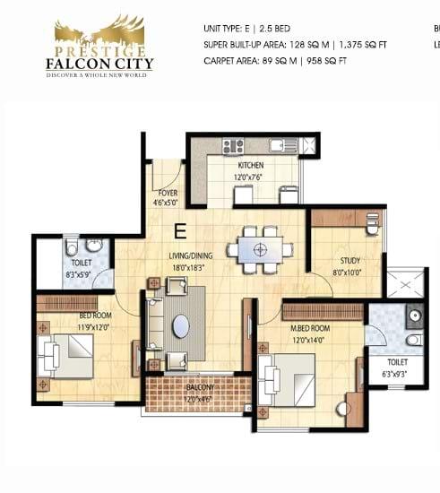 Prestige-Falcon-City-3bhk-1375-sqft-floorplan