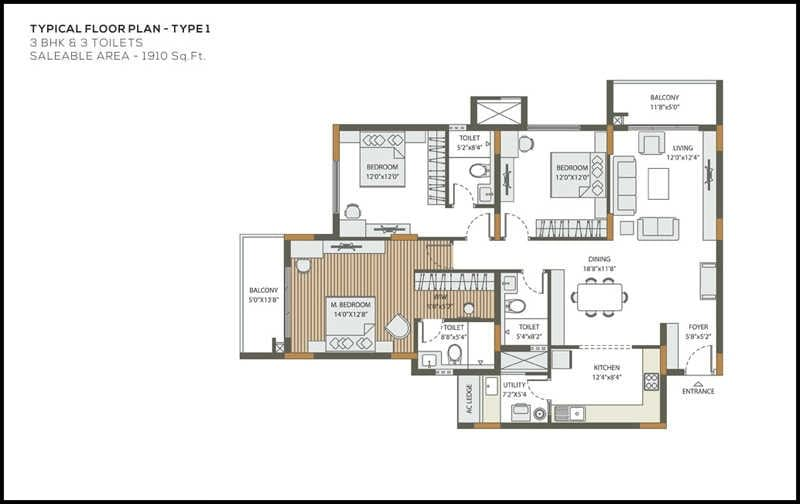 DNR-Atmosphere-3bhk-1910-sqft-floorplan