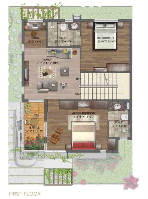 NVT-Mystic-Garden-3bhk-1939-sqft-First-Floorplan