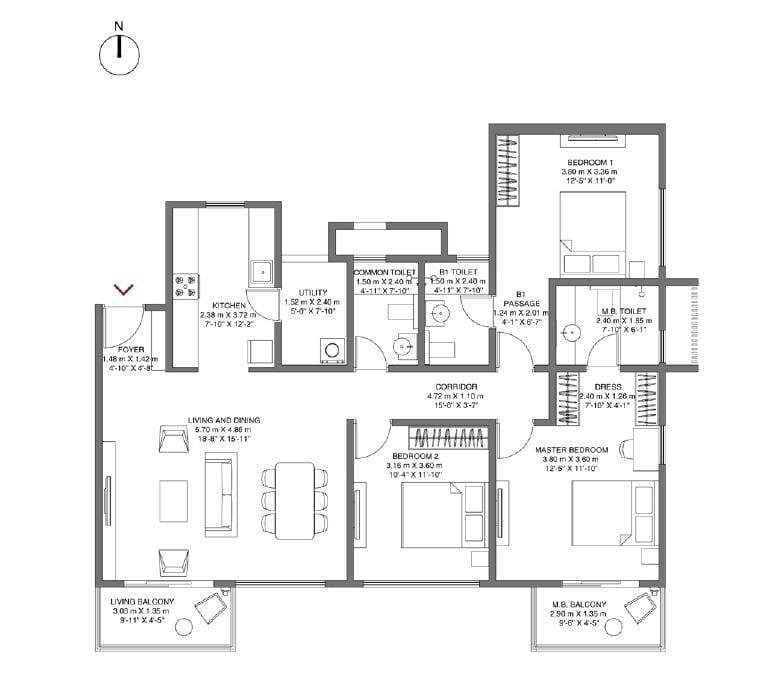 Godrej-Air-NXT-Floorplan-3bhk-1716