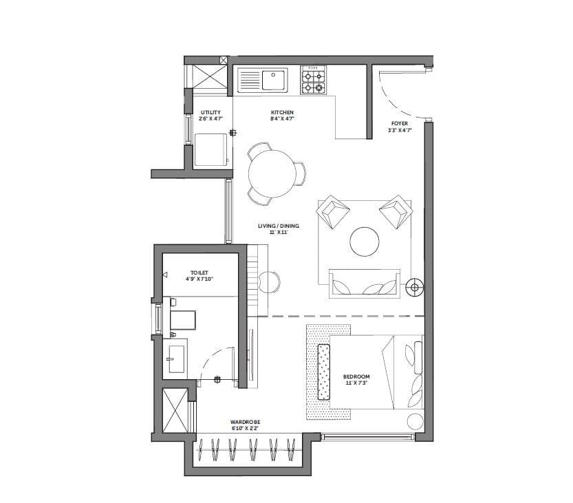 Asstez-63-Degree-East-1-BHK-474sqft-floorplan