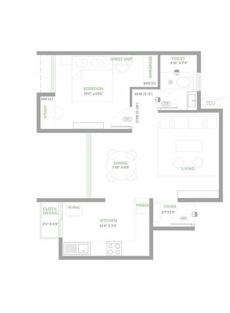 Asstez-63-Degree-East-1-BHK-691sqft-floorplan
