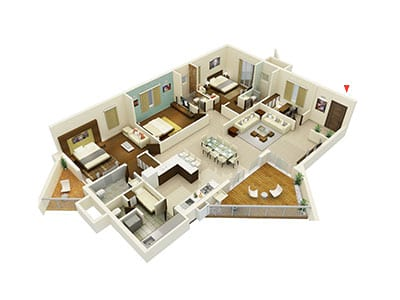 Living -Walls- Another -Sky-3bhk-2600