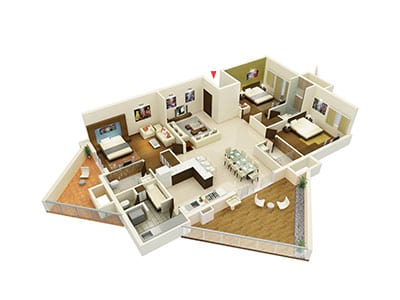 Living Walls Another Sky - 3 bhk - 2261 sqft
