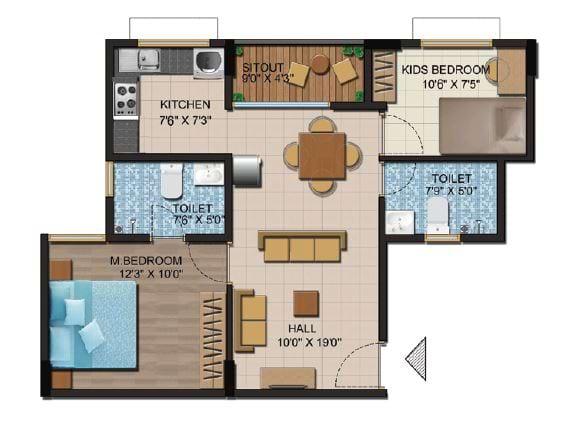 Shriram-Liberty-Square-Floorplan-2bhk-860