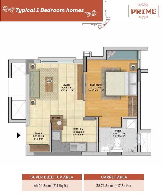 Parkside-north-1-BHK-711-sqft-floorplan