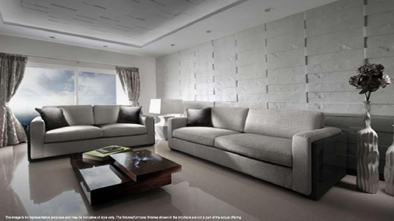 Adarsh Palm Retreat Lakefront Living Room