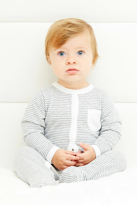 Baby L/S Romper w/Footie - Architectural