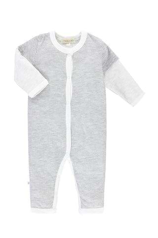 Baby Long-Sleeved Twofer Romper - Rock N' Roll - PAIGELAUREN