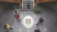 学生在Phi Beta Lambda会议的横幅图像