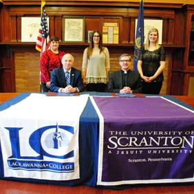 University, Lackawanna College Sign Transfer Agreement
